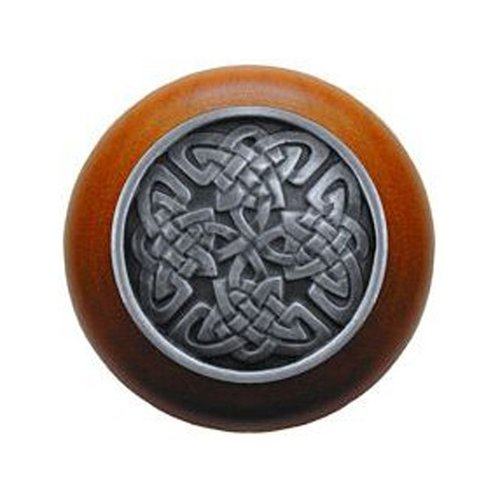 Notting Hill Jewel 1-1/2 Inch Diameter Antique Pewter Cabinet Knob NHW-757C-AP