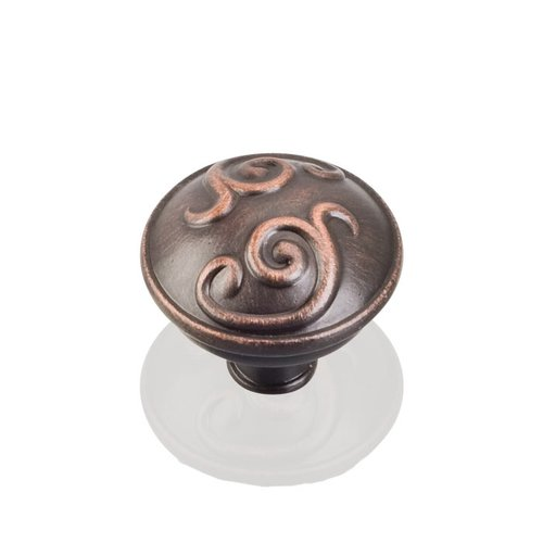 Jeffrey Alexander Kensington 1-3/8 Inch Diameter Dark Brushed Antique Copper Cabinet Knob 531DBAC