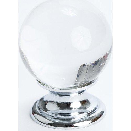 Berenson Europa 1-3/16 Inch Diameter Clear Crystal Ball/Chrome Cabinet Knob 7038-926-C