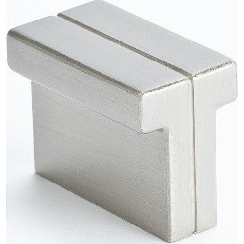 Berenson Skyline 1-3/8 Inch Length Brushed Nickel Cabinet Knob 9209-1BPN-P