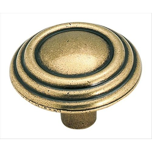 Amerock Sterling Traditions 1-1/4 Inch Diameter Burnished Brass Cabinet Knob BP1307O77