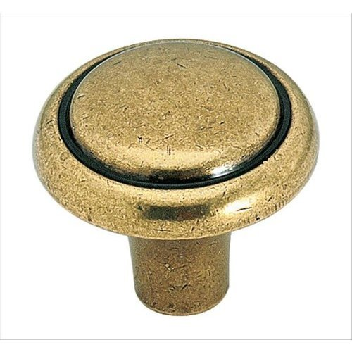Amerock Brass & Sterling Traditions 1-1/8 Inch Diameter Burnished Brass Cabinet Knob BP1308O77