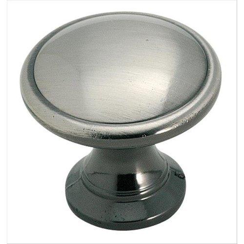 Amerock Solid Brass 1-1/4 Inch Diameter Pewter Cabinet Knob BP1466PWT