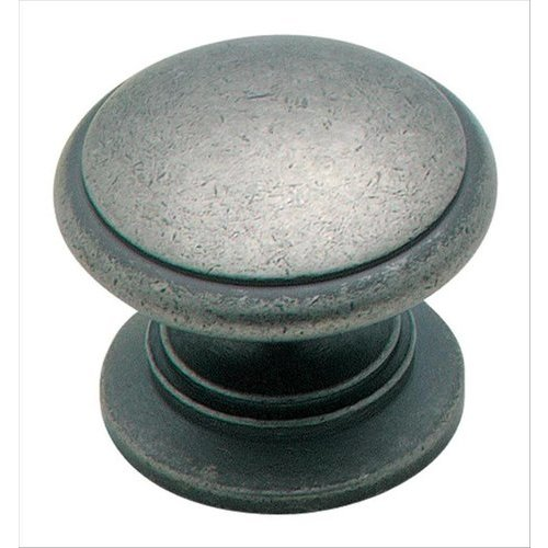 Amerock Solid Brass 1-1/4 Inch Diameter Weathered Nickel Cabinet Knob BP1466WN
