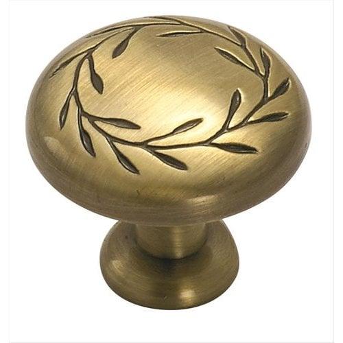 Amerock Nature's Splendor 1-1/4 Inch Diameter Elegant Brass Cabinet Knob BP1581EB