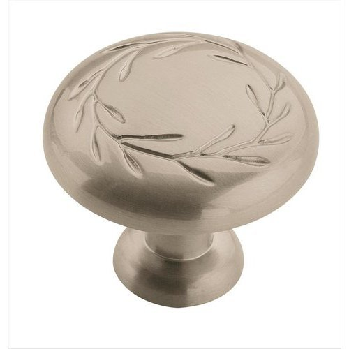 Amerock Nature's Splendor 1-1/4 Inch Diameter Satin Nickel Cabinet Knob BP1581G10