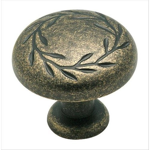 Amerock Nature's Splendor 1-1/4 Inch Diameter Weathered Brass Cabinet Knob BP1581R2