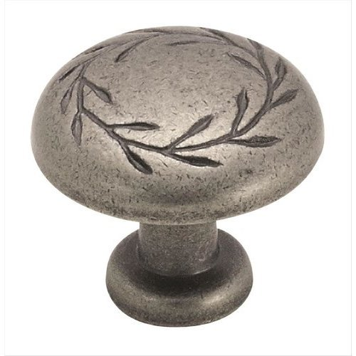 Amerock Nature's Splendor 1-1/4 Inch Diameter Weathered Nickel Cabinet Knob BP1581WN