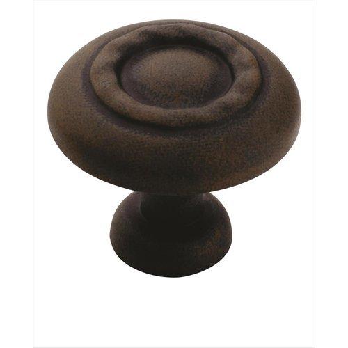 Amerock Inspirations 1-1/4 Inch Diameter Antique Rust Cabinet Knob BP1585ART
