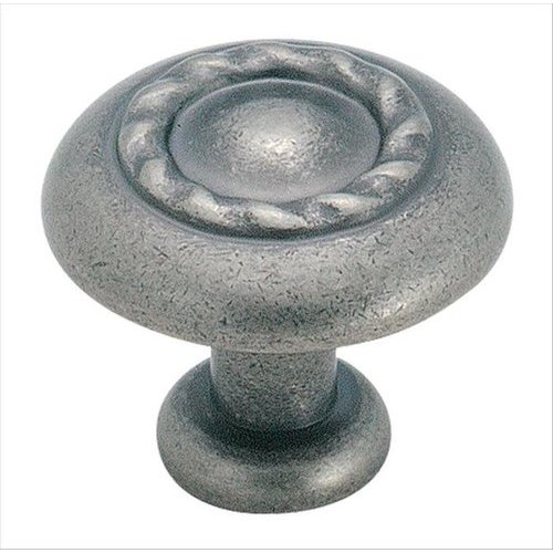 Amerock Inspirations 1-1/4 Inch Diameter Weathered Nickel Cabinet Knob BP1585WN