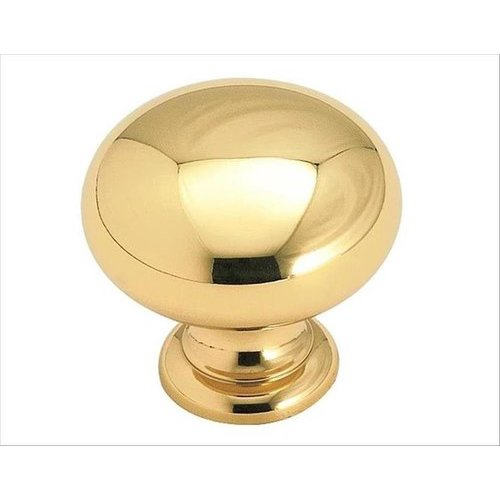 Amerock Brass Classics 1-1/4 Inch Diameter Polished Brass Cabinet Knob BP1950B