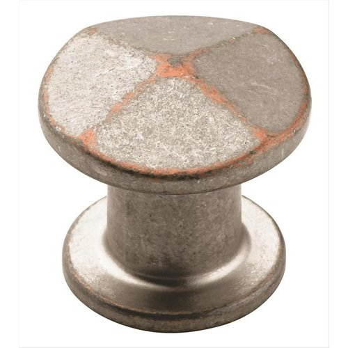 Amerock Vasari 1-3/16 Inch Diameter Weathered Nickel Copper Cabinet Knob BP24003WNC