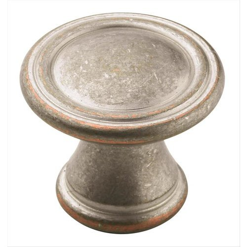 Vasari 1-3/16 Inch Diameter Weathered Nickel Copper Cabinet Knob <small>(#BP24009WNC)</small>