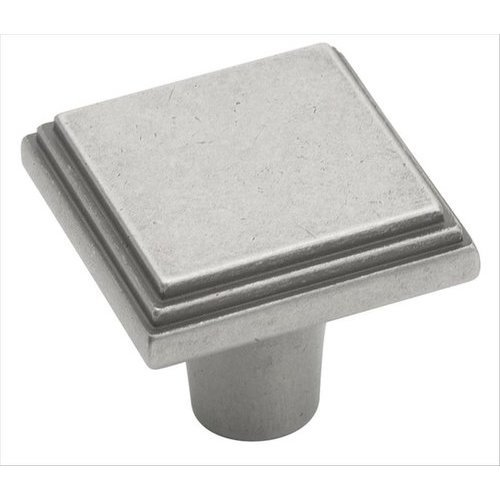 Manor 1 Inch Diameter Weathered Nickel Cabinet Knob <small>(#BP26117WN)</small>