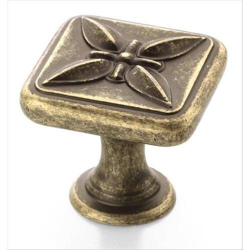 Amerock Sundara 1-1/8 Inch Diameter Weathered Brass Cabinet Knob BP27009R2