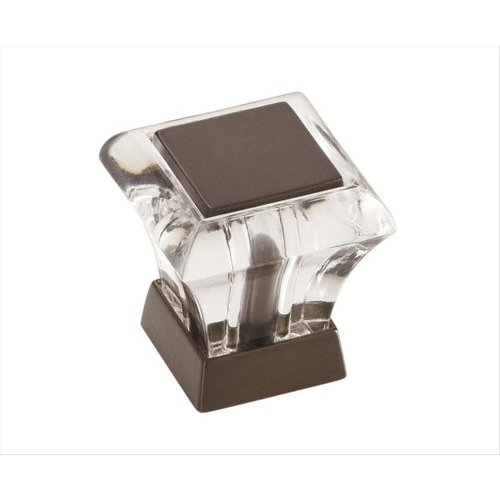 Amerock Abernathy 1 Inch Diameter Acrylic/Caramel Bronze Cabinet Knob BP29460CCBZ