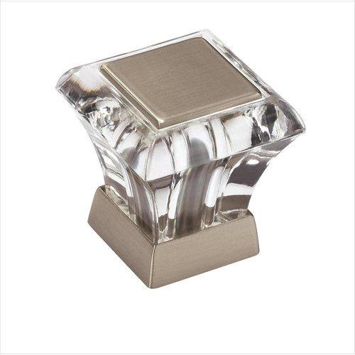 Amerock Abernathy 1 Inch Diameter Acrylic/Satin Nickel Cabinet Knob BP29460CG10