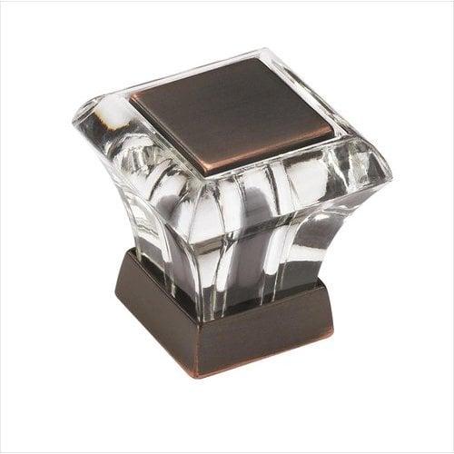 Amerock Abernathy 1 Inch Diameter Acrylic/Oil Rubbed Bronze Cabinet Knob BP29460CORB