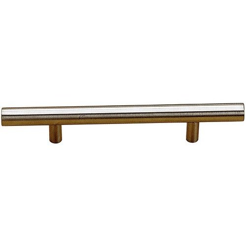 Contemporary 16-1/8 Inch Center to Center Bar Pulls with Stainless Steel Finish <small>(#BP3487410170AB)</small>