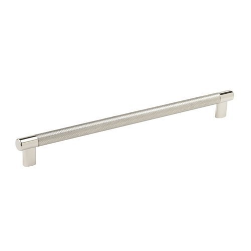"Amerock Esquire Pull 12-19/32"" C/C Polished Nickel/Stainless Steel BP36561PNSS"