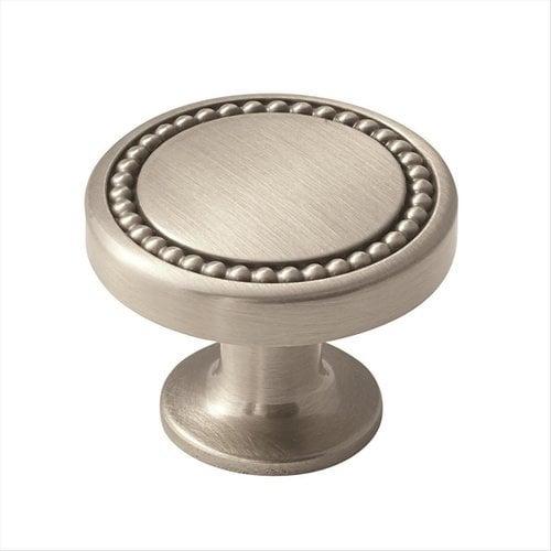 Amerock Carolyne 1-3/8 Inch Diameter Satin Nickel Cabinet Knob BP36580G10