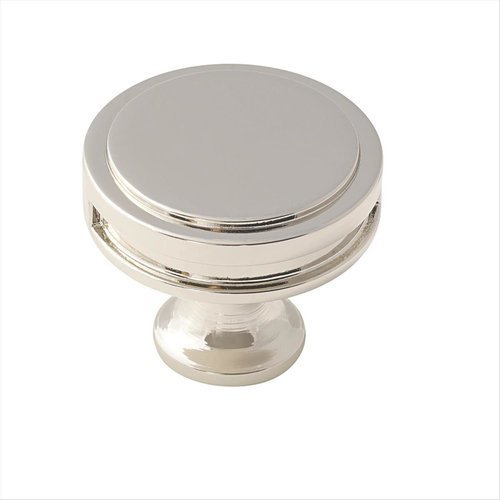Oberon 1-3/8 Inch Diameter Polished Nickel Cabinet Knob <small>(#BP36603PN)</small>