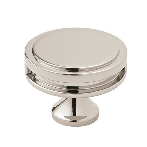 Amerock Oberon Knob 1-3/4 inch Diameter Polished Nickel BP36604PN