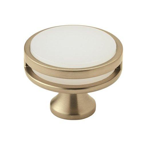 Amerock Oberon Knob 1-3/4 inch Diameter Golden Champagne/Frosted Acrylic BP36609BBZFA