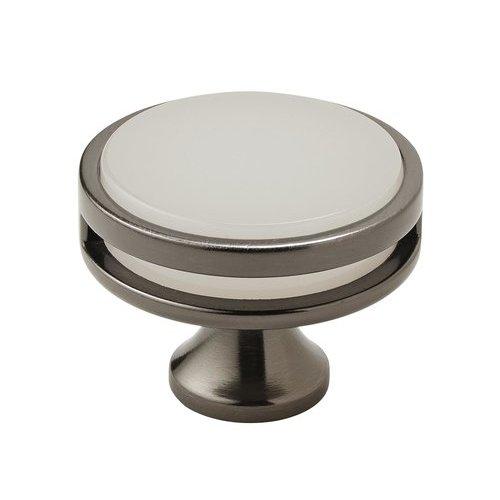Amerock Oberon Knob 1-3/4 inch Diameter Gunmetal/Frosted Acrylic BP36609GMFA
