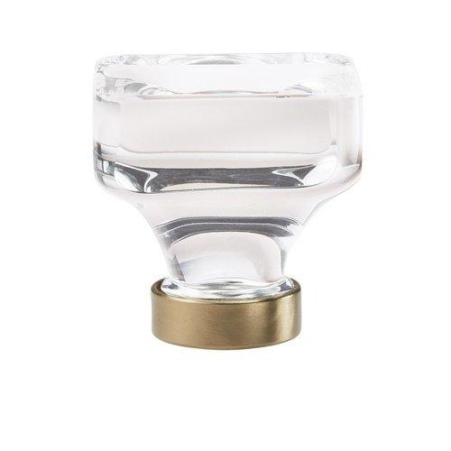Amerock Glacio Knob 1-3/8 inch Diameter Clear Crystal/Golden Champagne BP36653CBBZ