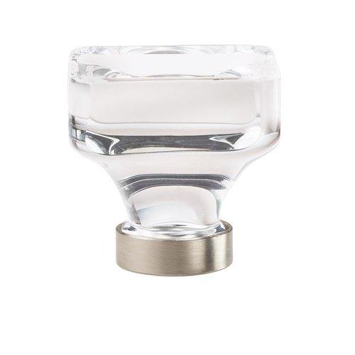 Amerock Glacio Knob 1-3/8 inch Diameter Clear Crystal/Satin Nickel BP36653CG10