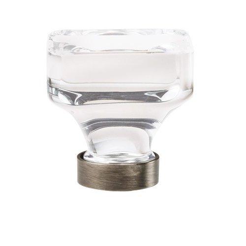 Amerock Glacio Knob 1-3/8 inch Diameter Clear Crystal/Gunmetal BP36653CGM