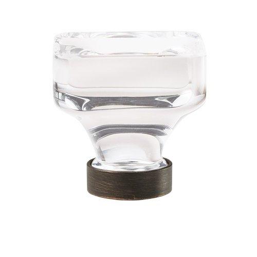 "Amerock Glacio Knob 1-3/8"" Dia Clear Crystal/Oil Rubbed Bronze BP36653CORB"