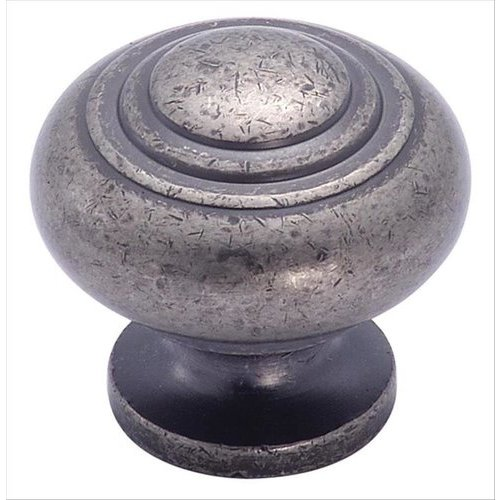 Amerock Inspirations 1-3/16 Inch Diameter Weathered Nickel Cabinet Knob BP4258WN