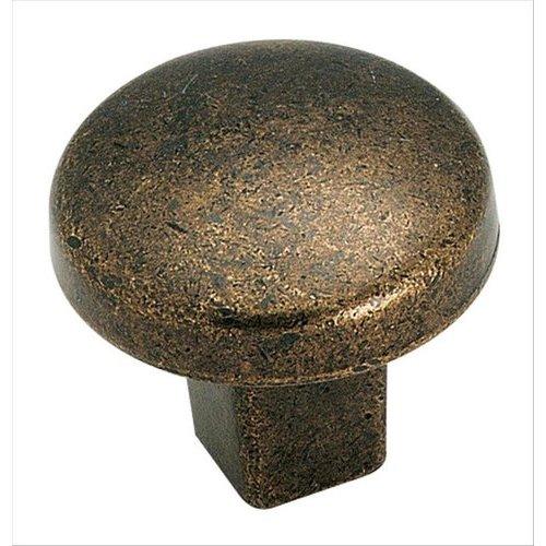 Amerock Forgings 1-1/4 Inch Diameter Rustic Brass Cabinet Knob BP4425R3