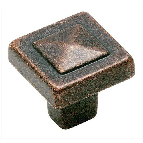 Amerock Forgings 1-1/8 Inch Diameter Rustic Bronze Cabinet Knob BP4429RBZ