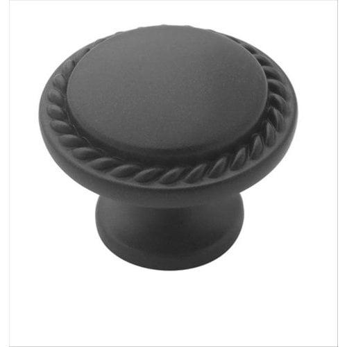 Amerock Allison Value Hardware 1-1/8 Inch Diameter Flat Black Cabinet Knob BP53001FB