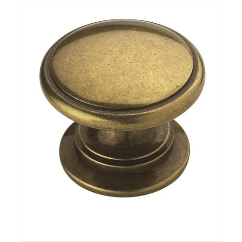 Amerock Allison Value Hardware 1-1/4 Inch Diameter Burnished Brass Cabinet Knob BP53012BB