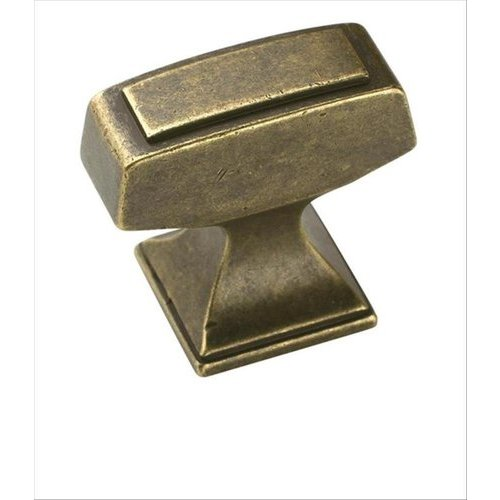 Mulholland 1-1/4 Inch Length Rustic Brass Cabinet Knob <small>(#BP53029R3)</small>
