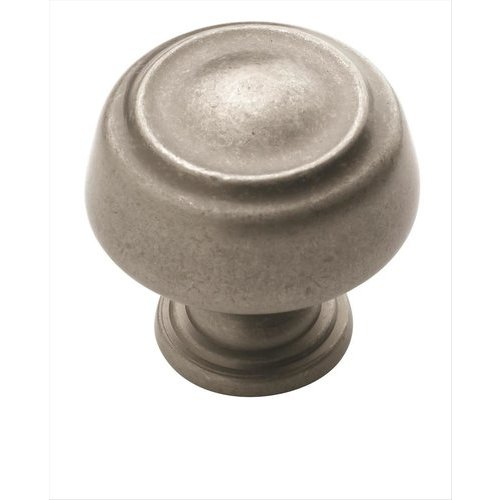 Amerock Kane 1-1/4 Inch Diameter Weathered Nickel Cabinet Knob BP53700WN