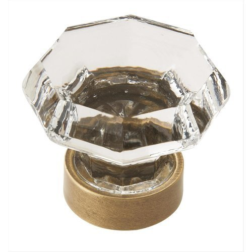 Traditional Classics 1-1/4 Inch Diameter Crystal/Gilded Bronze Cabinet Knob <small>(#BP55268CGB)</small>
