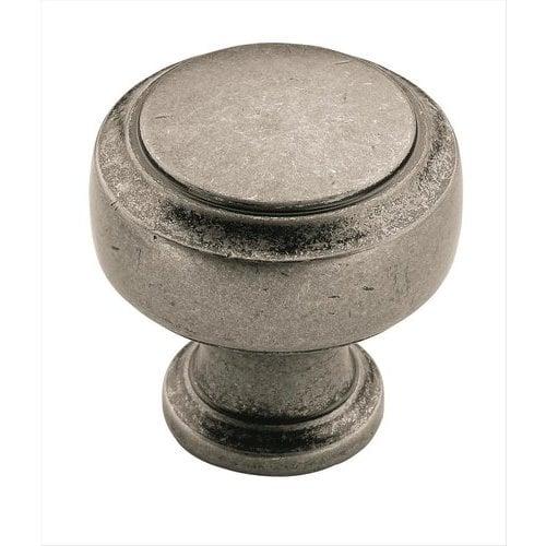 Amerock Highland Ridge 1-1/8 Inch Diameter Aged Pewter Cabinet Knob BP55312AP