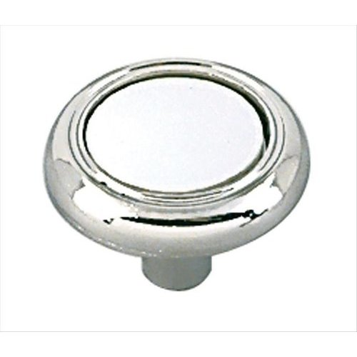 Amerock Allison Value Hardware 1-1/4 Inch Diameter White/polished Chrome Cabinet Knob BP7624426W