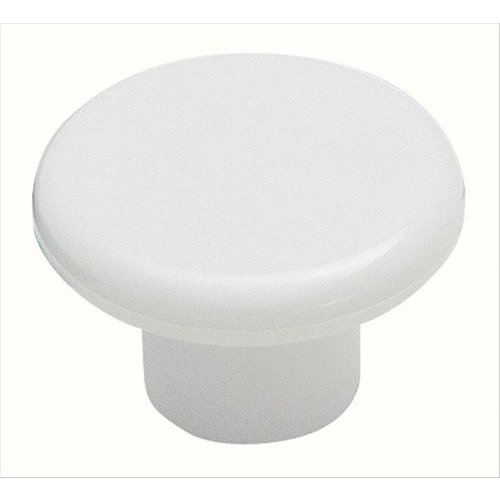 Amerock Allison Value Hardware 1-1/4 Inch Diameter White Plastic Cabinet Knob BP802PW