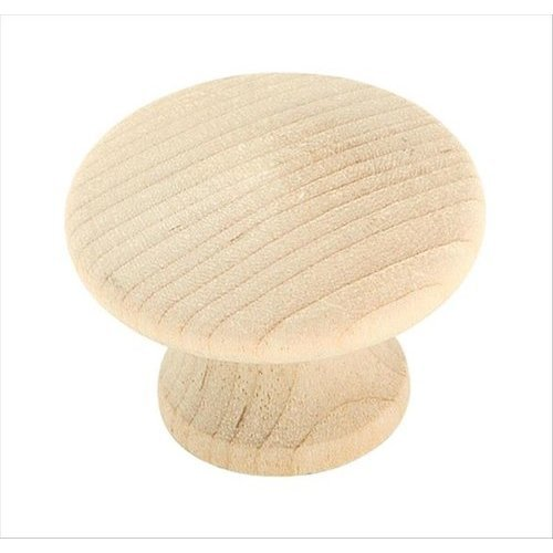 Allison Value Hardware 1-1/4 Inch Diameter Unfinished Birch Cabinet Knob <small>(#BP811WD)</small>