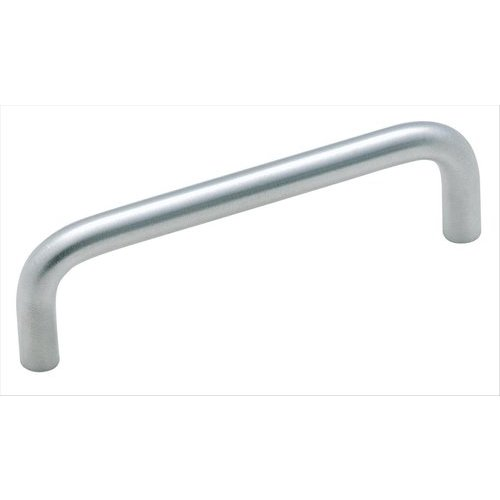 Amerock Brass Wire Pull 3-1/2 Inch Center to Center Brushed Chrome Cabinet Pull BP86726D