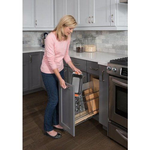... Hardware Resources 5 Inch Base Cabinet Pullout With Built In Tray  Divider BPOTD5 ...