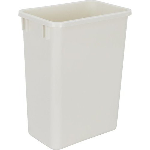 hardware resources 35 quart plastic waste container white can 35w. Black Bedroom Furniture Sets. Home Design Ideas