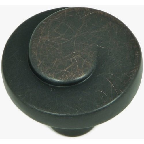 Stone Mill Hardware Newbury 1-1/4 Inch Diameter Oil Rubbed Bronze Cabinet Knob CP1008-OB