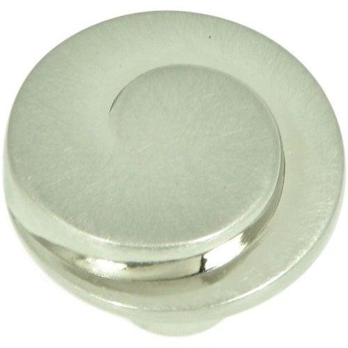 Stone Mill Hardware Newbury 1-1/4 Inch Diameter Satin Nickel Cabinet Knob CP1008-SN
